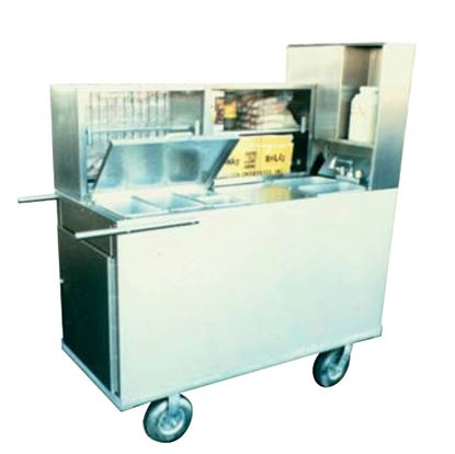 Picture of HOT FOOD PUSHCART W/ PIZZA-PRETZEL OVEN